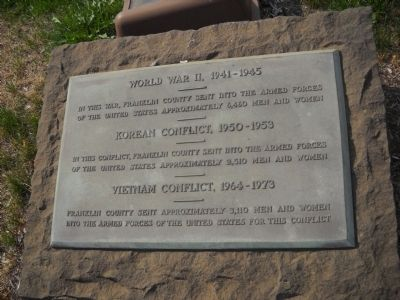 World War II – Korean Conflict – Vietnam Conflict Marker image. Click for full size.