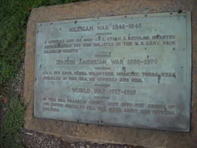 Mexican War – Spanish American War – World War Marker image. Click for full size.