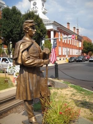 Union Soldier Statue image. Click for full size.