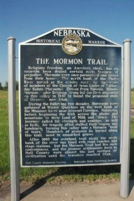 Mormon Trail Marker image. Click for full size.