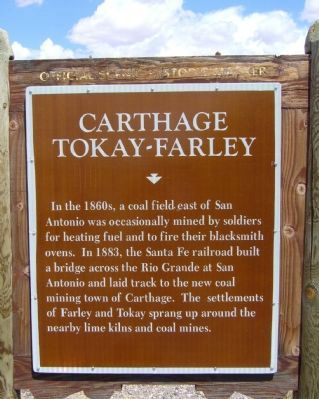 Carthage-Tokay-Farley Marker image. Click for full size.