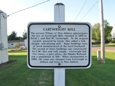 Cartwright Mill Marker image. Click for full size.