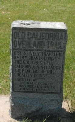 Old California Overland Trail Marker image. Click for full size.