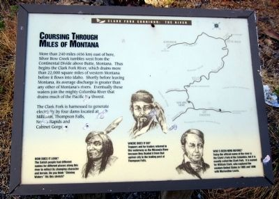 Coursing Through Miles Of Montana Marker image. Click for full size.