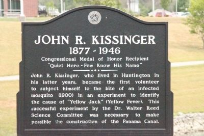 John R. Kissinger Marker image. Click for full size.