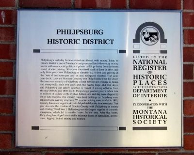 Philipsburg Historic District Marker image. Click for full size.