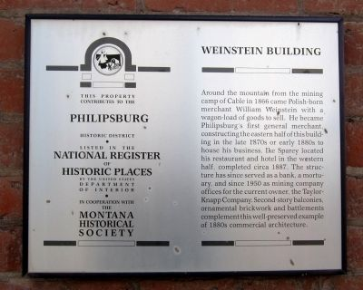 Weinstein Building Marker image. Click for full size.