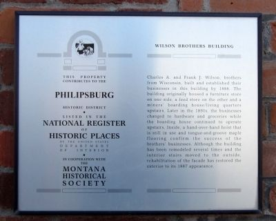 Wilson Brothers Building Marker image. Click for full size.