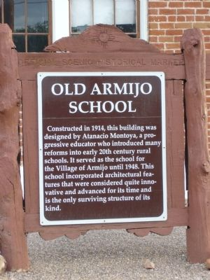 Old Armijo School Marker image. Click for full size.