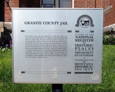 Granite County Jail Marker image. Click for full size.