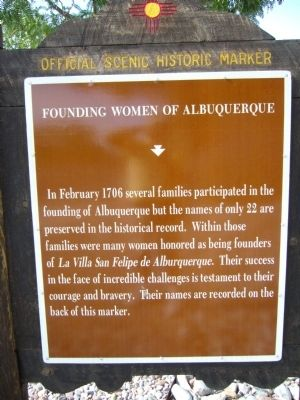 Founding Women of Albuquerque Marker image. Click for full size.