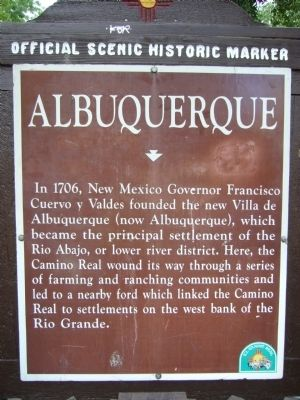 Albuquerque Marker image. Click for full size.