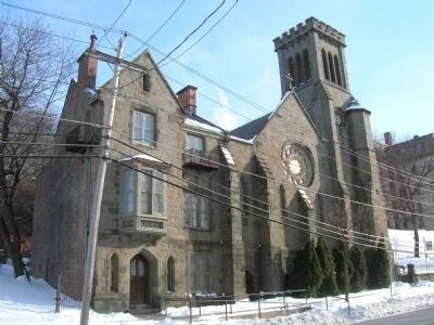 Church of the Holy Cross on 8th Street, Troy, NY image. Click for full size.