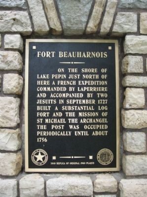 Fort Beauharnois Marker image. Click for full size.