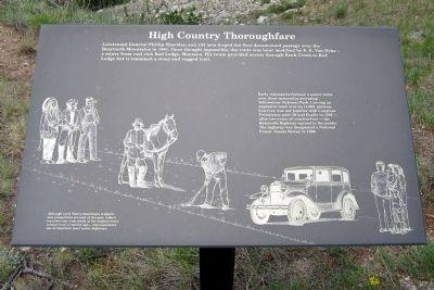 High Country Thoroughfare Marker image. Click for full size.