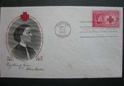 Clara Barton American Red Cross Commemorative Stamp, First Day Issue image. Click for full size.