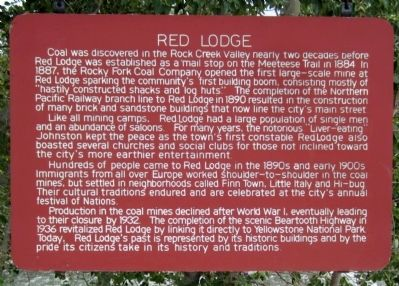 Red Lodge Marker image. Click for full size.