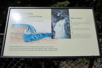 Upper Falls of the Yellowstone River Marker image. Click for full size.