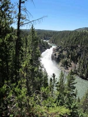 Upper Falls of the Yellowstone River image. Click for full size.