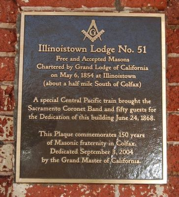 Illinoistown Lodge No. 51 Marker image. Click for full size.