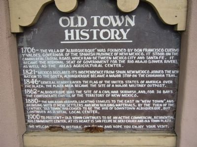 Old Town History Marker image. Click for full size.