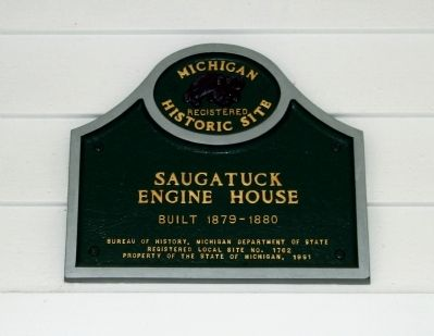 Saugatuck Engine House Marker image. Click for full size.