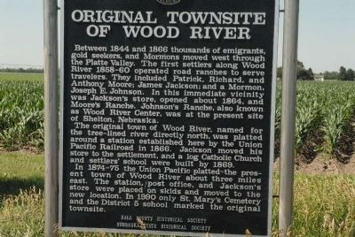 Original Townsite of Wood River Marker image. Click for full size.