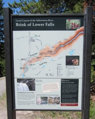 Brink of Lower Falls Marker image. Click for full size.