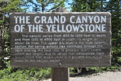 The Grand Canyon Of The Yellowstone Marker image. Click for full size.