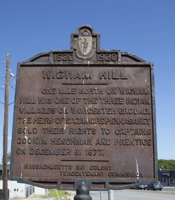 Wigwam Hill Marker image. Click for full size.