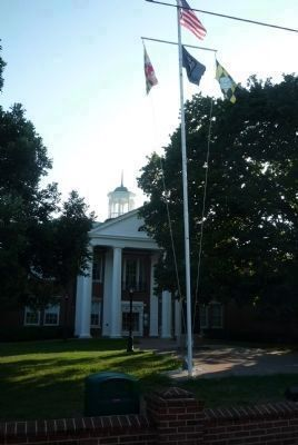 Main entrance to the Calvert County Courthouse - image. Click for full size.