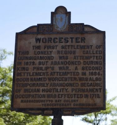 Worcester(Lincoln Square) Marker image. Click for full size.