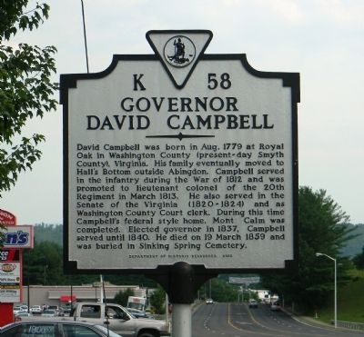 Governor David Campbell Marker image. Click for full size.