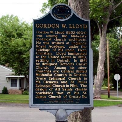 Gordon W. Lloyd Marker image. Click for full size.