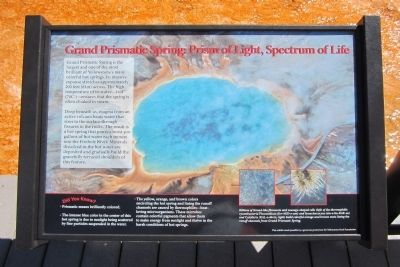 Grand Prismatic Spring: Prism of Light, Spectrum of Life Marker image. Click for full size.