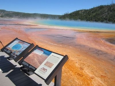 Grand Prismatic Spring Markers image. Click for full size.