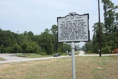 St. Paul Church / Oak Grove Marker, new location image. Click for full size.