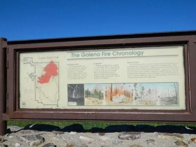The Galena Fire Chronology Marker image. Click for full size.