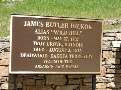 James Butler Hickok Marker image. Click for full size.
