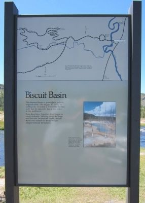 Biscuit Basin Marker image. Click for full size.