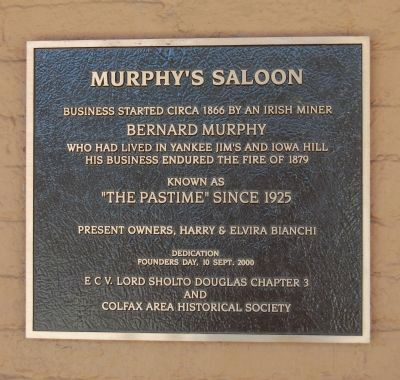 Murphy's Saloon Marker image. Click for full size.