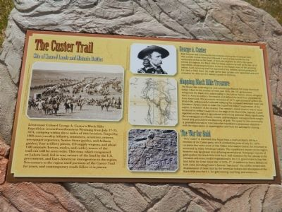 The Custer Trail Marker image. Click for full size.