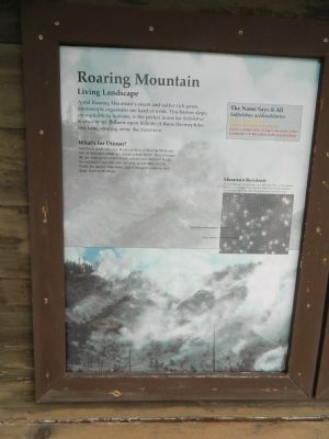 Roaring Mountain Marker image. Click for full size.