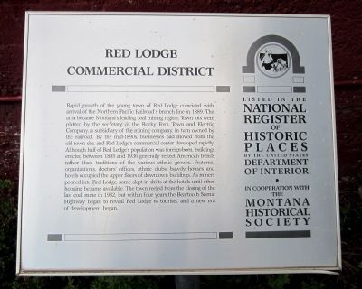 Red Lodge Commercial District Marker image. Click for full size.