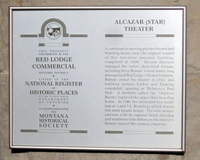 Alcazar (Star) Theater Marker image. Click for full size.