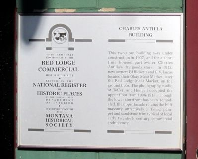 Charles Antilla Building Marker image. Click for full size.