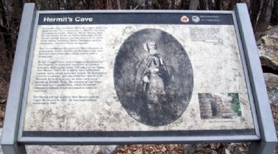 Hermit's Cave Marker image. Click for full size.