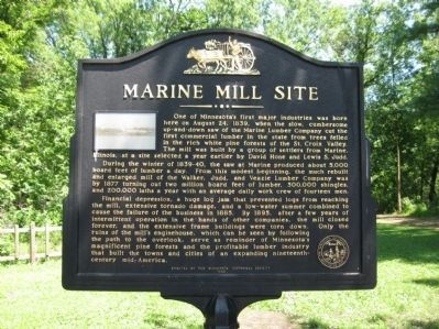 Marine Mill Site Marker image. Click for full size.