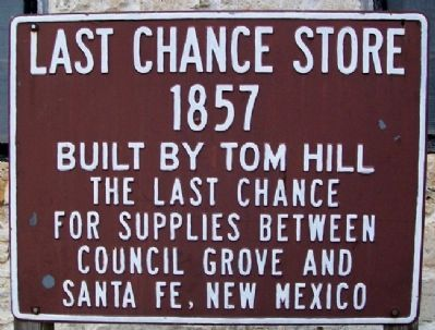 Last Chance Store Marker image. Click for full size.