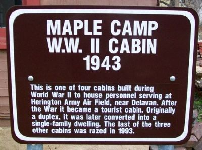 Maple Camp W.W. II Cabin Marker image. Click for full size.